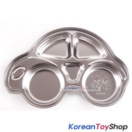 PINKFONG Car Shape Stainless Steel Food Tray for Kids or Diet BPA Free Original