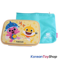 PINKFONG Stainless Steel Food Tray Lunch Box Kids with Lid & Bag Original