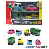 00130 - The Little Bus TAYO & Friends 4 pcs Set V.2 Toy Cars Bongbong Heart Max Poco