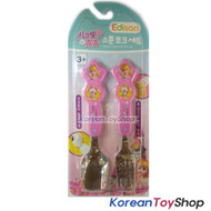 Secret Jouju Cute Stainless Steel Spoon Fork Set Pink Made in Korea Original