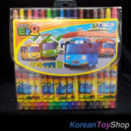 The Little Bus Tayo 16 Colored Pencils Crayon Twistable Twist Up Made in Korea