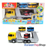 The Little Bus Tayo Carry & 3 pcs Buses Wind up Plastic Toy Set Korea Animation