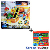 The Little Bus Tayo Heavy Equipment Play Set Toy w/ 4 pcs Tayo Friends Mini Bus