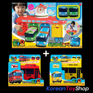 The Little Bus Tayo Main Garage with 4 Buses (Tayo Rogi Gani Rani) Package Set