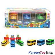 The Little Bus Tayo Rogi Rani Shooting Cars & Garage Toy Set 3pcs, KoreanToyShop