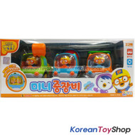 Pororo Mini Toy 3 Construction Car Set Korean Animation Pull Back Gear Original
