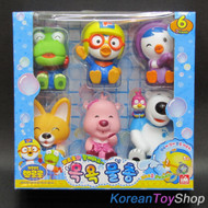 Pororo & Friends 7 Character 6 pcs Set Toy Water Gun Enjoy Bath Time Korea Anima
