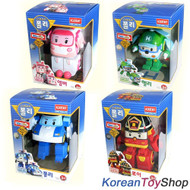 Robocar Poli Transformer 4pcs POLI ROY AMBER HELLY Robot Toy Academy Genuine