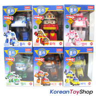Robocar Poli Transformer 6 pcs POLI ROY AMBER HELLY MARK BUCKY Robot Car Toy