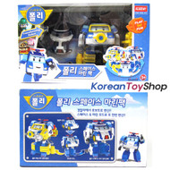 Robocar Poli Transformer Space Marine Pack Toy Police Car Robot w/ Accessories