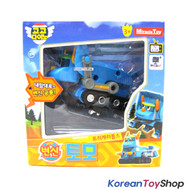 Gogo Dino TOMO Mini Transformer Robot Dinosaur Car Toy Bulldozer Blue