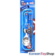 Marvel Captain America Stainless Steel Spoon Chopsticks Case Set / BPA Free