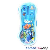 Disney Finding Dory Nemo Stainless Steel Spoon Fork Case Set Kids / BPA Free