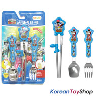 Power Rangers Dino Charge Force Stainless Steel Training Chopsticks Spoon Fork