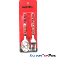 Angry Birds Character Stainless Steel Spoon Fork Set Kids Children BPA Free