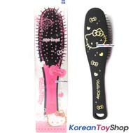 Hello Kitty Hair Cushion Brush Comb / Slim Black & Pink Color / Made in Korea