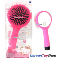 Hello Kitty Hair Cushion Brush Comb w/ Mirror Pink Color V.1 / Made in Korea