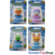 Pororo Flipper Toothbrush Holder 4 pcs Set - Pororo Petty Crong Eddie Models