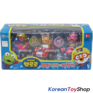 Pororo Mini Car 3 pcs Set Toy Train Airplane Sports Car Full Back Gear
