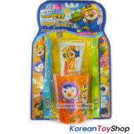 Pororo 2 Toothbrush Toothpaste Cup Set Kids Children Over 3 years+ Made in Korea