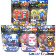 Robocar Poli Shooting Mini Car 5 pcs Toy Set w/ Key - Poli Roy Amber Mark Bucky
