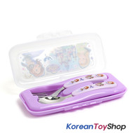 Disney Princess Sofia the First Stainless Steel Spoon Fork Case Set Korea