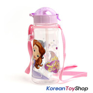 Disney Princess Sofia the First Water Bottle w/ Straw BPA Free Made in Korea