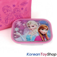 Disney Frozen Stainless Steel Food Tray Lunch Box w/ Lid, Bag Elsa Anna Princess