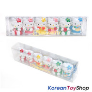 Hello Kitty 6 pcs Cute Mini Figure Set Toy / Fruits Theme