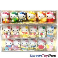 Hello Kitty 18 pcs Cute Mini Figure Set Toy - Fruits Music Job Theme