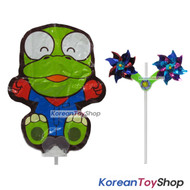 Pororo Balloon w/ Pinwheel Birthday Picnic Party Supplies - Crong Doll Type
