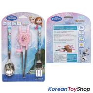 Disney Frozen Stainless Steel Spoon Fork Training Chopsticks Set Kids BPA Free