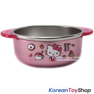 Hello Kitty Stainless Steel Medium Bowl Non slip Anti Slip Pads BPA Free 350ml
