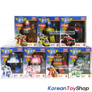 Robocar Poli Transformer 7 pcs POLI ROY AMBER HELLY MARK BUCKY POACHER Toy Car