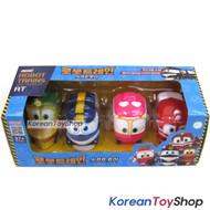 Robot Trains Soft Mini Car Trains 4 pcs Set - Kay Alf Selly Duck, No Transformer