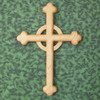 Cloverleaf Celtic Cross-Wood Carved Budded Cross, Apostles Cross, Cathedral Cross