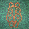Cat Love Knot, Celtic Style wood carving by Signs of Spirit.