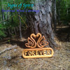 Swan Heart Forever another Inspired Wood Carving from Signs of Spirit