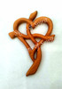 Front of Card: Heart Cross Wood Carving Card by Signs of Spirit