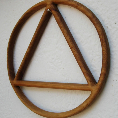 Sobriety Circle and Triangle-Alcoholics Anonymous Symbol