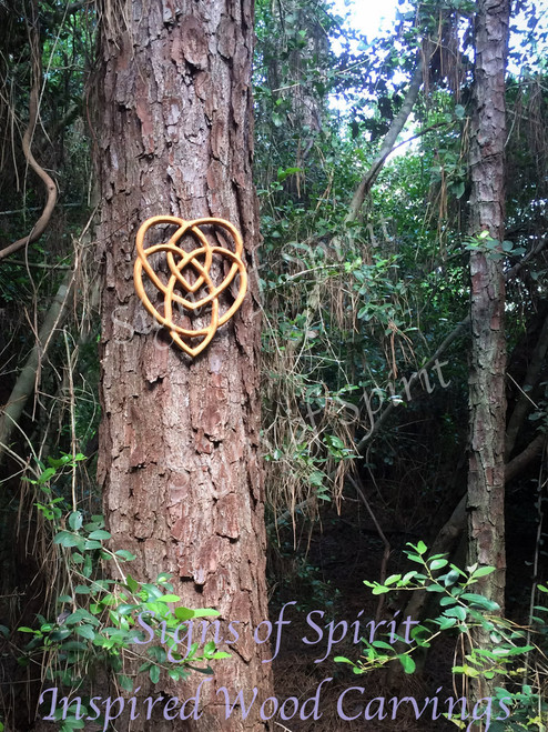 Celtic Knot of Motherhood-Two Hearts Entangled- Well-spring of Love