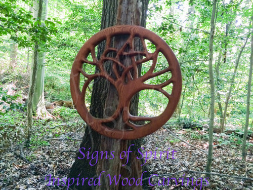 Druid Tree-Pentacle Tree-World Tree-Nature Based Altar Celtic Wood Carving