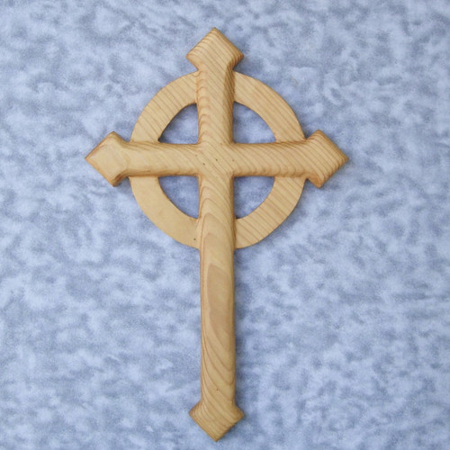Celtic Cross-Wood Carved Christian Cross