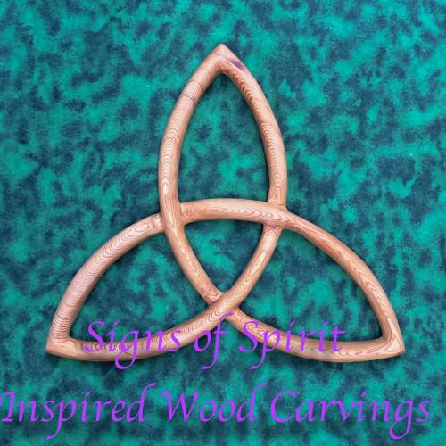 Trinity Knot-Basic Triquetra-Celtic Goddess-Christian Trinity Wood Carving