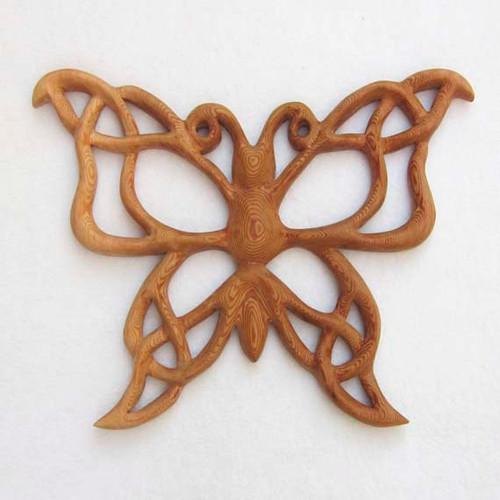 Celtic Butterfly Knot of Metamorphosis-Life Transition Symbol-Celebrating Soul Journey