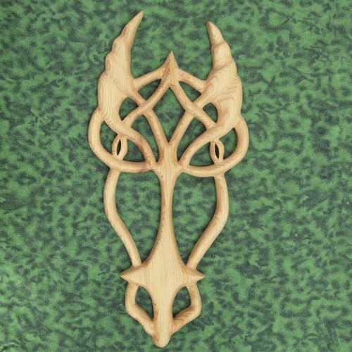 Dragon Knot-Celtic Wood Carved Dragon-Power- Primal Force of Nature - Cunning
