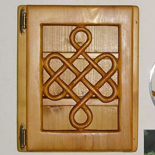Knot of Longevity - Long Life - Traditional Celtic Knotwork Wood Cabinet