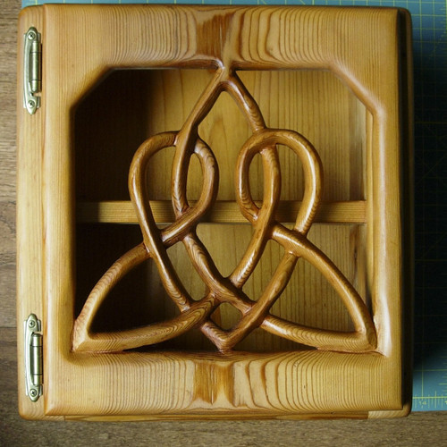 Celtic Heart Cabinet-Triquetra of Everlasting Love Wood Carved