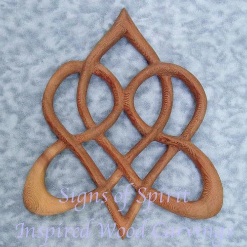 Stylized Celtic Heart-Heart Shape-Knot of Everlasting Love-Wood Carved