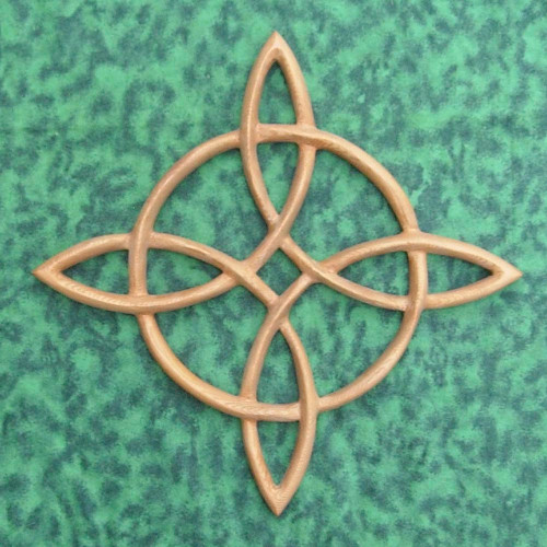 Compass Rose Celtic wood carving by Signs of Spirit